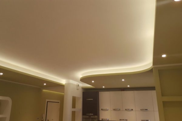 controsoffitto in cartongesso con faretti led